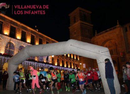 Valientes amantes del running desafiaron al frío en la Carrera Popular de Navidad San Sabino de Villanueva de los Infantes