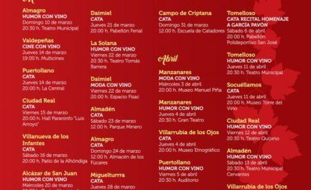La Cultura del Vino llega a Alcázar, Valdepeñas, La Solana, Daimiel, Almadén y Almagro esta semana