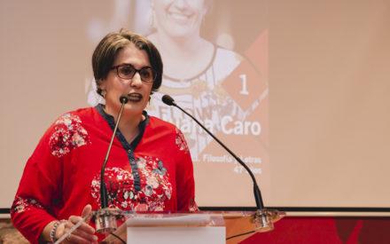 """Juana Caro """"la gente de izquierdas y los indecisos pueden confiar en Izquierda Unida y en la candidatura de Unidas Podemos"""""""