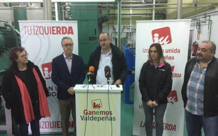 El candidato de Unidas Podemos al Senado, Alejandro Becerra, visita las instalaciones de Colival y ha mantenido un encuentro con el sindicato Justicia y Progreso en los Juzgados de Valdepeñas