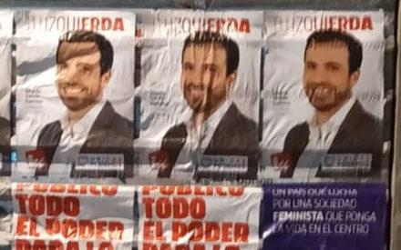 Unidas Podemos de Valdepeñas denuncia que su cartelería electoral ha sido arrancada por miembros de VOX en la localidad