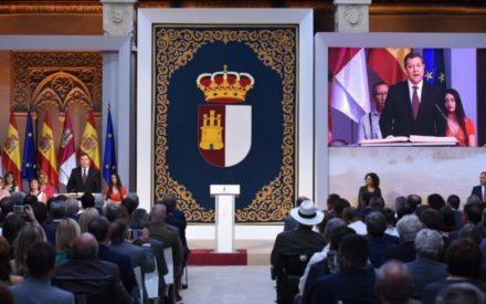 """El presidente de CLM adelanta una legislatura marcada por """"más diálogo, más pactos, más cercanía y más moderación"""""""