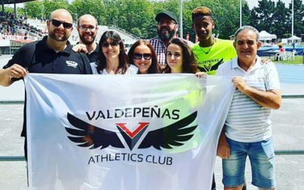 Asabu Pines y Natalia Ruiz del Valdepeñas Athletics Club participaron en el Campeonato de España Sub-16