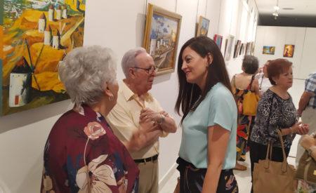 Inaugurada la XXXVIII Exposición de Artesanía de Mayores del Centro de Bonillas