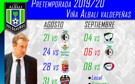 Calendario de pretemporada del Viña Albali Valdepeñas