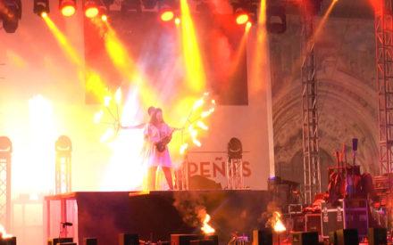 Fuego, luz y música para el espectáculo inaugural de las Fiestas de la Vendimia