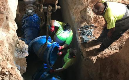 Finalizan con éxito las obras de conexión a la nueva red de abastecimiento de agua