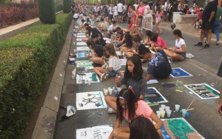 Celebrado el XLIX Concurso de pintura en el asfalto