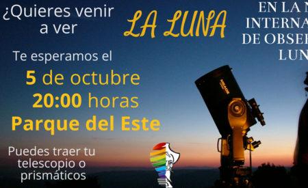 Día Internacional de Observación de la Luna. Observación abierta al público