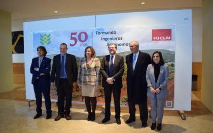 La consejera de Economía, Empresas y Empleo participa en el acto conmemorativo del 50 aniversario de la Escuela Técnica Superior de Ingenieros Agrónomos de Ciudad Real