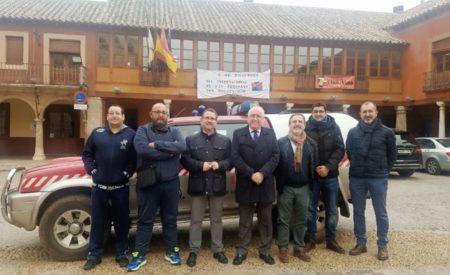 El delegado provincial de Hacienda y Administraciones Públicas, Francisco Pérez Alonso visita la Agrupación de Voluntarios de Protección Civil de La Solana