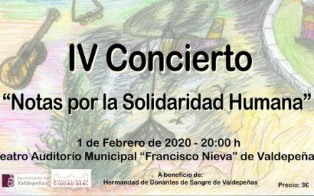 IV Concierto benéfico «Notas por la Solidaridad Humana» en Valdepeñas