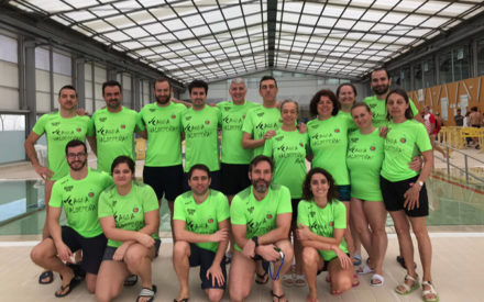 Participación del Club Deportivo Aqua de Valdepeñas en la segunda jornada de la liga regional de natación en categorías Máster