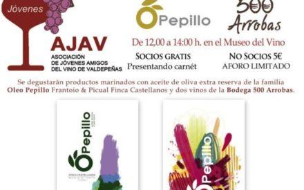 Cata de aceites de Oleo Pepillo este sábado 29 de febrero a las 12:00 h. en el Museo del Vino de Valdepeñas