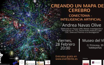 """El próximo viernes """"Viernes con la Ciencia"""", """"Creando un mapa del cerebro. Conectoma-Inteligencia Artificial"""""""