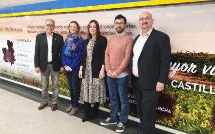 El Gobierno de CLM promociona las Rutas del Vino regionales en la Puerta del Sol de Madrid, en las instalaciones de Metro