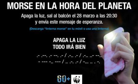 Apagar la luz y encender la linterna desde el balcón: La Hora del Planeta en Valdepeñas