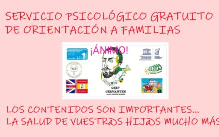 El Colegio Cervantes de Santa Cruz de Mudela se preocupa por la salud mental de las familias