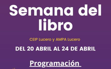 El AMPA del CEIP Lucero celebra el Día del Libro desde casa con contenidos online