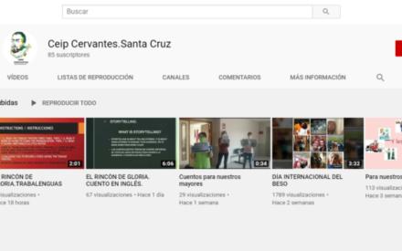 El Colegio Cervantes de Santa Cruz de Mudela crea un canal educativo en YouTube