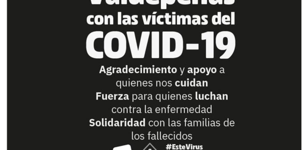 IU Valdepeñas muestra su apoyo y solidaridad al conjunto de la población ante la situación de crisis sanitaria que estamos viviendo