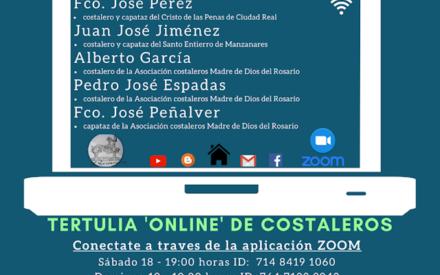Costaleros Madre de Dios del Rosario organiza la primera tertulia 'online'