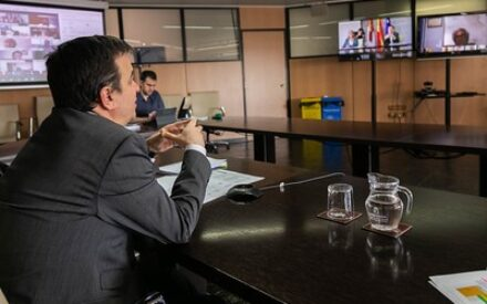 Videoconferencia con la Comisión Regional del Ajo en Castilla-La Mancha y el consejero Francisco Martínez Arroyo