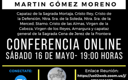 La Asociación de Costaleros Madre de Dios del Rosario de celebrará mañana sábado una conferencia Online