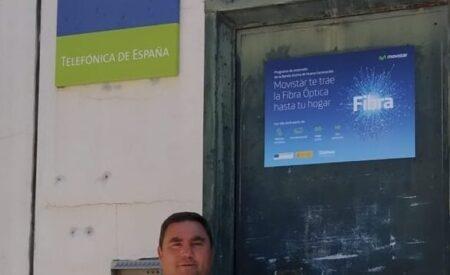 La fibra óptica de Telefónica llega a la localidad de Carrizosa