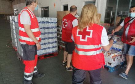 Cruz Roja distribuye en la provincia más de 124.000 kg de alimentos