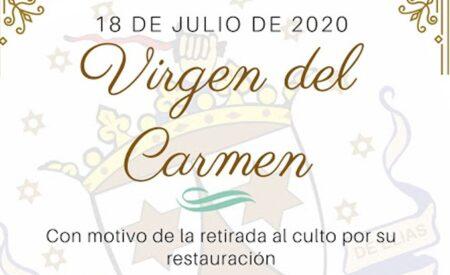 El grupo parroquial Costaleros Madre de Dios del Rosario informa sobre los actos programados de la festividad de la Virgen del Carmen