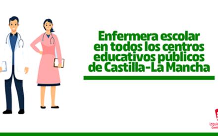 IU C-LM reclama la contratación de enfermeras escolares en los centros educativos públicos
