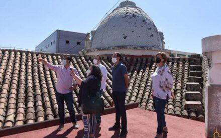 José Manuel Caballero evalúa los daños ocasionados por la gota fría en el Palacio Provincial y el resto de dependencias de la Diputación