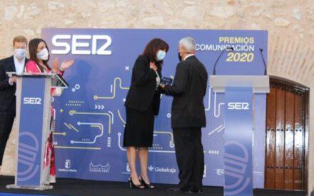Blanca Fernández asiste a los Premios Comunicación 2020 de la Cadena SER en Ciudad Real